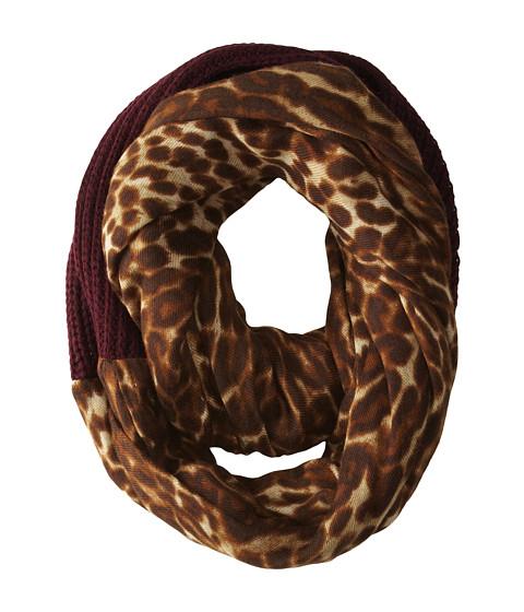 LAUREN by Ralph Lauren - Leopard Infinity Loop Scarf (Port/Leopard) Scarves