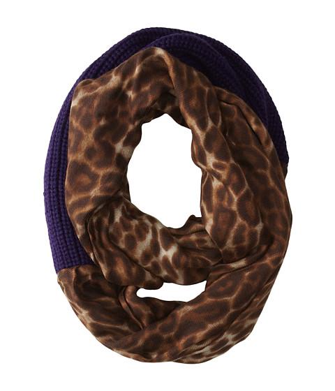 LAUREN by Ralph Lauren - Leopard Infinity Loop Scarf (Regal Purple/Leopard) Scarves