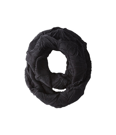 LAUREN by Ralph Lauren - Shattered Pleats Infinity Ring (Black) Scarves