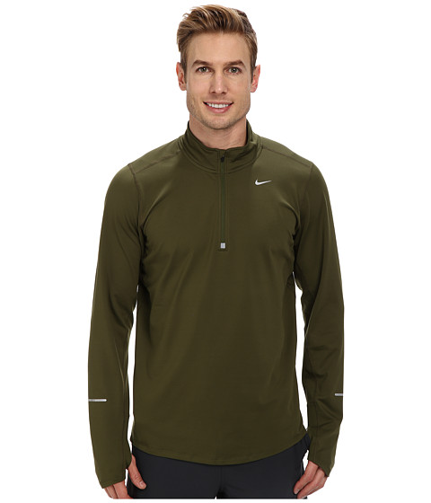 Nike - Element Half-Zip (Rough Green/Rough Green/Reflective Silver) Men's Long Sleeve Pullover