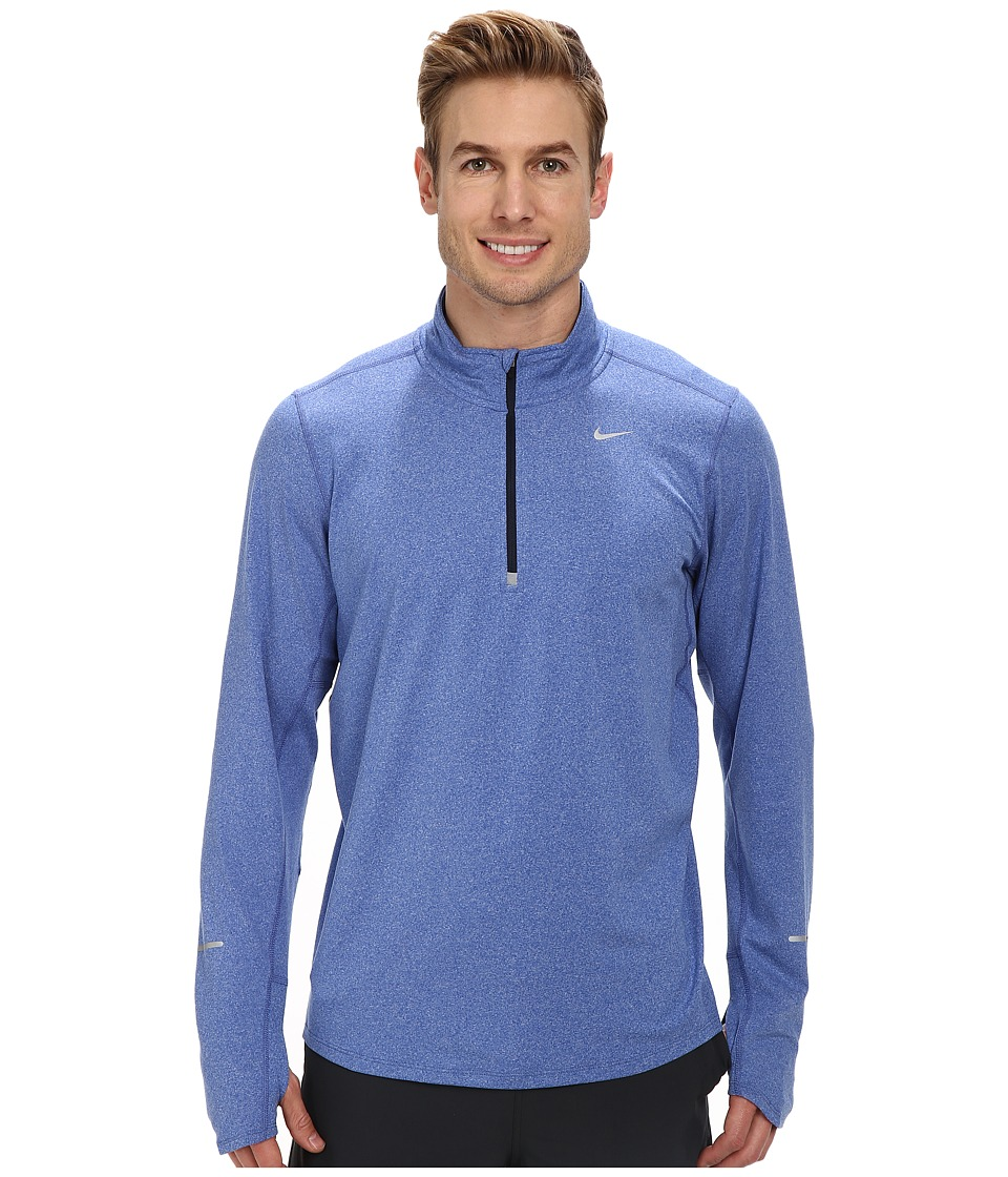 Nike - Element Half-Zip (Game Royal/Heather/Obsidian/Reflective Silver) Men's Long Sleeve Pullover