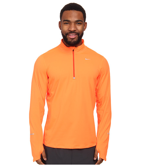 Nike - Element Half-Zip (Hyper Crimson/Team Orange/Reflective Silver) Men's Long Sleeve Pullover