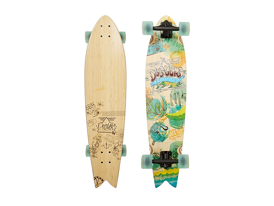 Dusters - Snapshot Longboard (Bamboo/Multi) Skateboards Sports Equipment