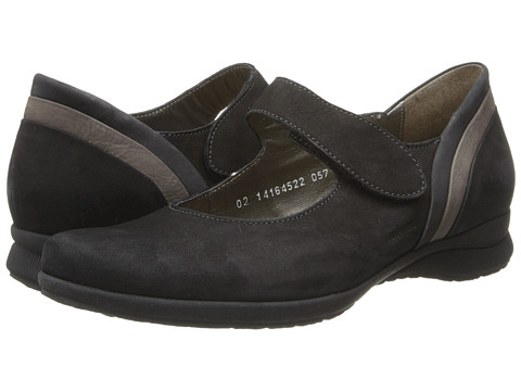 Mephisto - Joyce (Black/Graphite/Grey Bucksoft) Women's Shoes