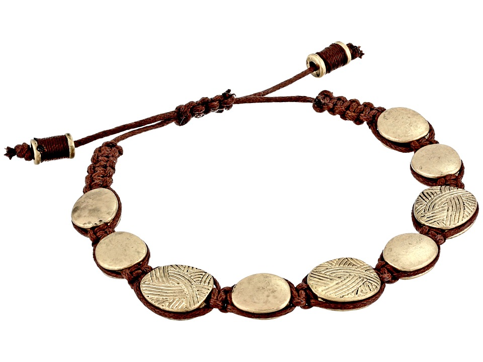The Sak - Batik Pebble Slider Bracelet (Gold) Bracelet