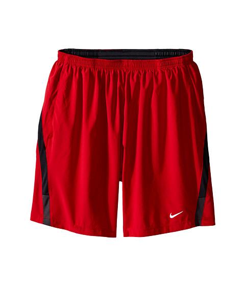 Nike - 7 Distance Short (Gym Red/Dark Ash/Medium Ash/Reflective Silver) Men's Shorts