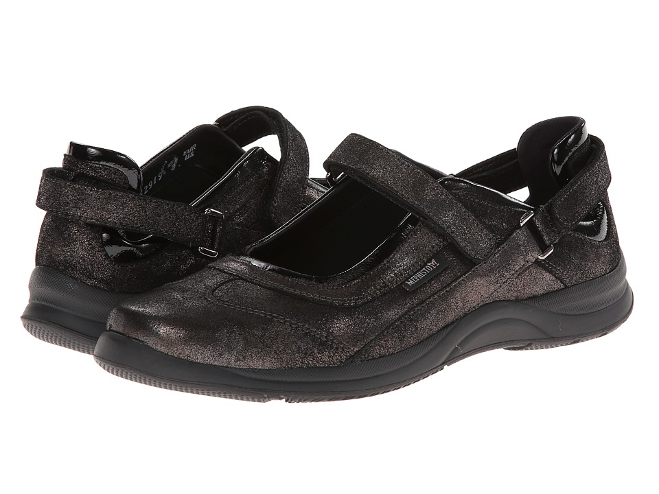 Mephisto - Lilou (Black Fashion/Crinkle Patent) Women's Maryjane Shoes