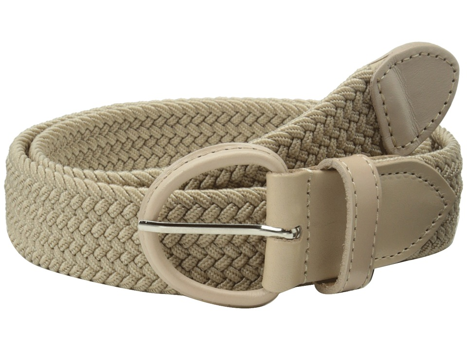 Florsheim - Braided Elastic Stretch Belt 35mm (Khaki) Men's Belts