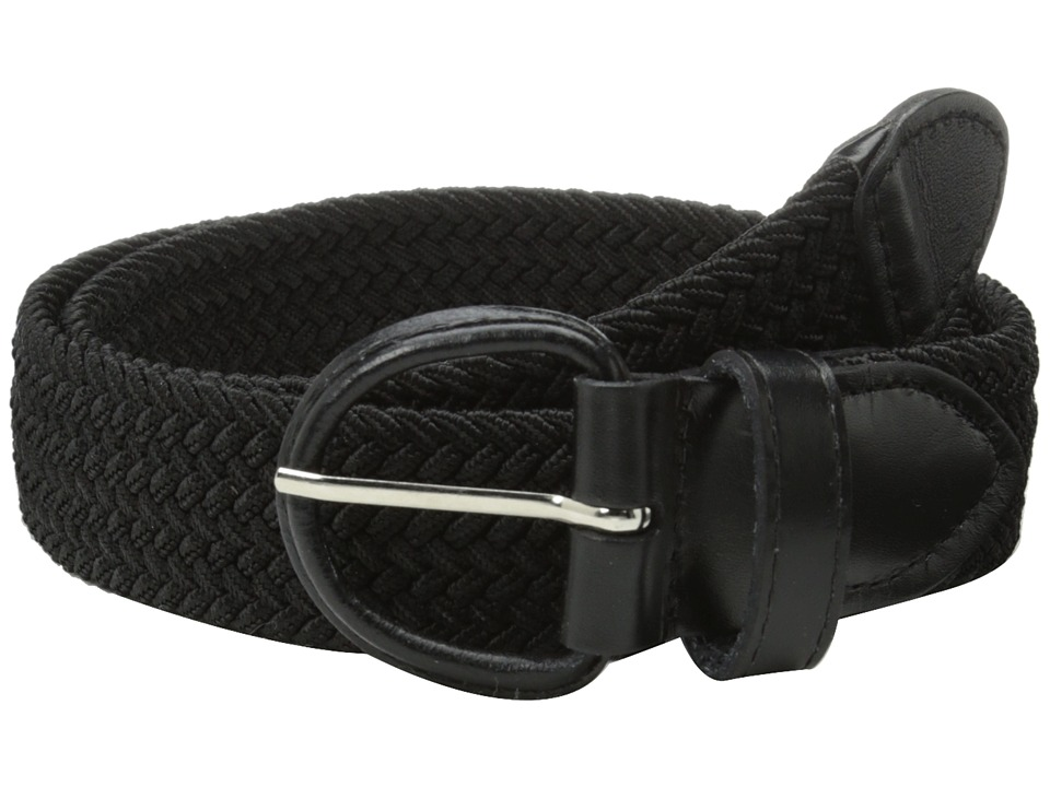 Florsheim - Braided Elastic Stretch Belt 35mm (Black) Men's Belts
