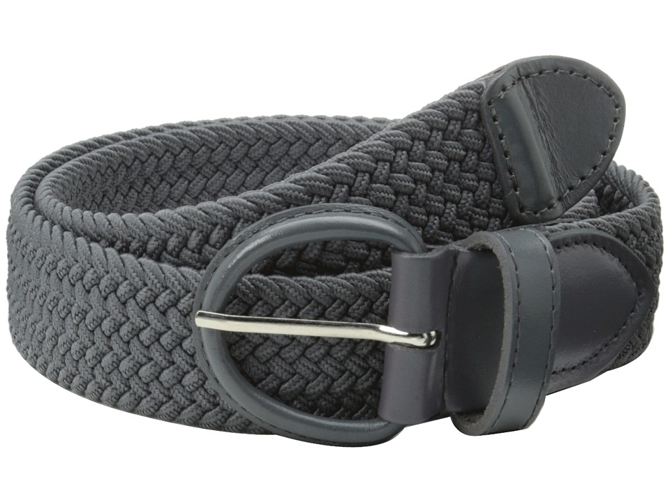 Florsheim - Braided Elastic Stretch Belt 35mm (Gray) Men's Belts