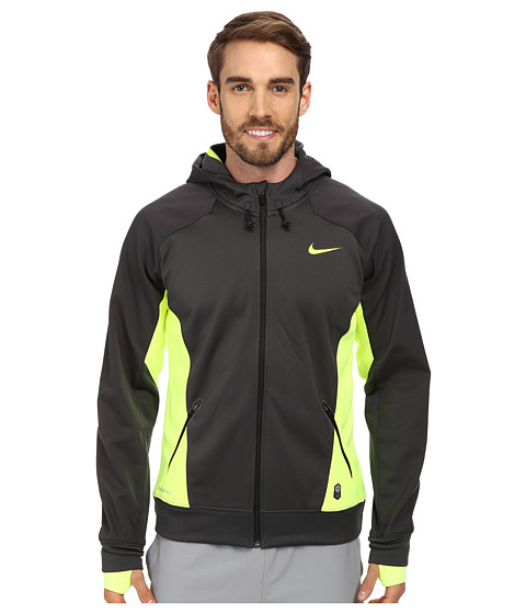 Nike - Hero Outdoor Tech Full-Zip Hoodie (Anthacite/Volt/Volt/Volt) Men