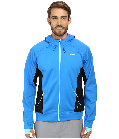 Nike - Hero Outdoor Tech Full-Zip Hoodie (Photo Blue/black/Bleached Turquoise/Bleached Turquoise) Men's Coat
