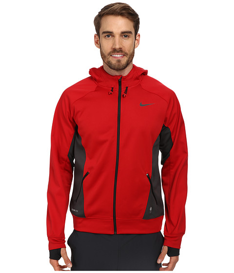 Nike - Hero Outdoor Tech Full-Zip Hoodie (Gym Red/Anthracite/Black/Black) Men's Coat