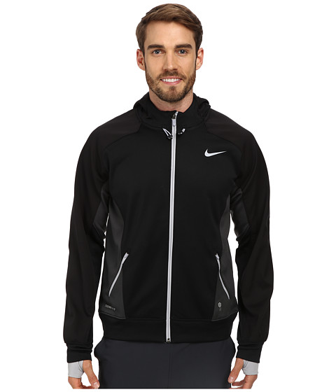 Nike - Hero Outdoor Tech Full-Zip Hoodie (Black/Anthracite/Wolf Grey/Wolf Grey) Men's Coat