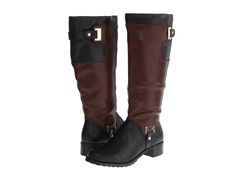 Bella-Vita - Anya II Plus Calf (Black/Mahogany) Women's Boots