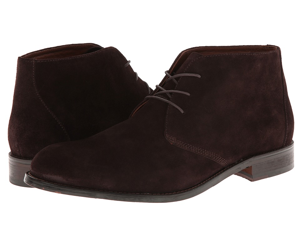 Johnston & Murphy - Hartley Chukka (Dark Brown Suede) Men
