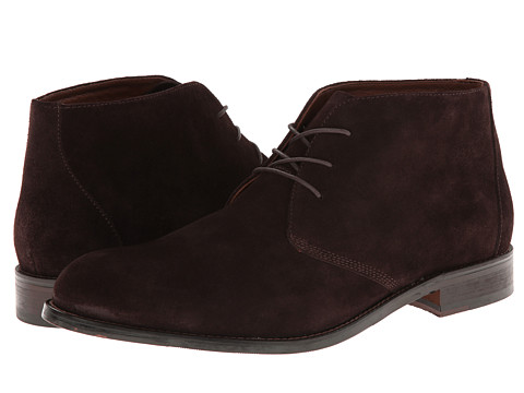 Johnston & Murphy - Hartley Chukka (Dark Brown Suede) Men's Boots