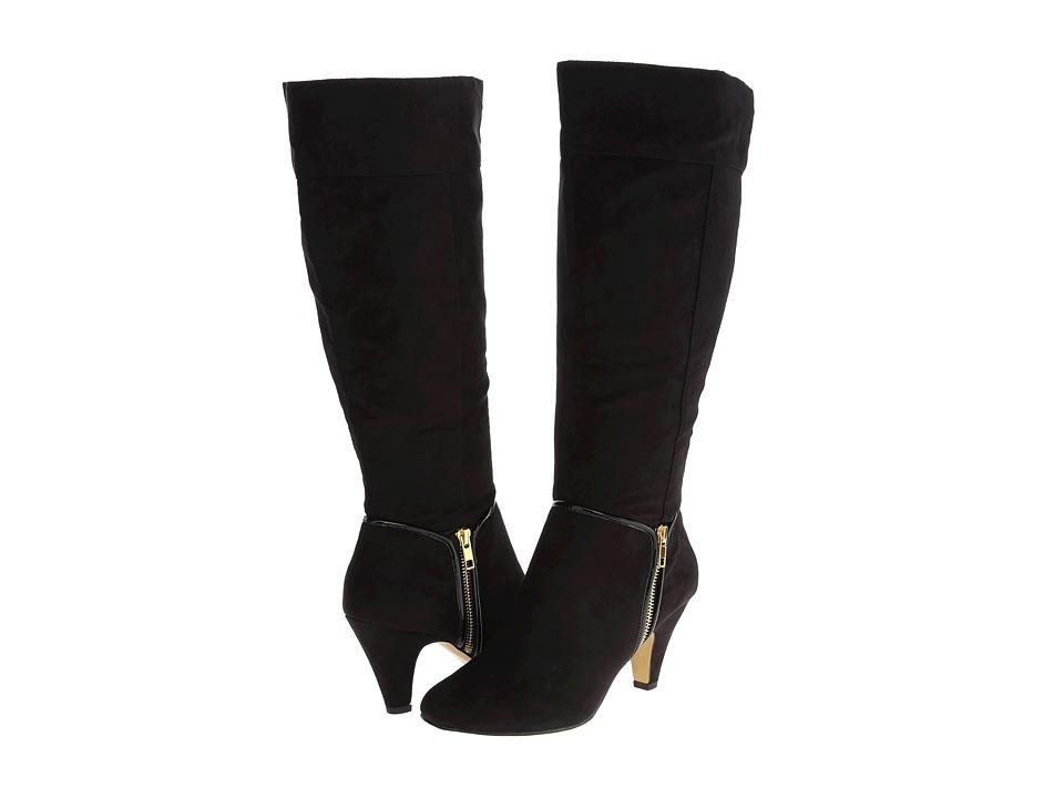 Bella-Vita - Camy II Plus Calf (Black Super Suede) Women's Boots