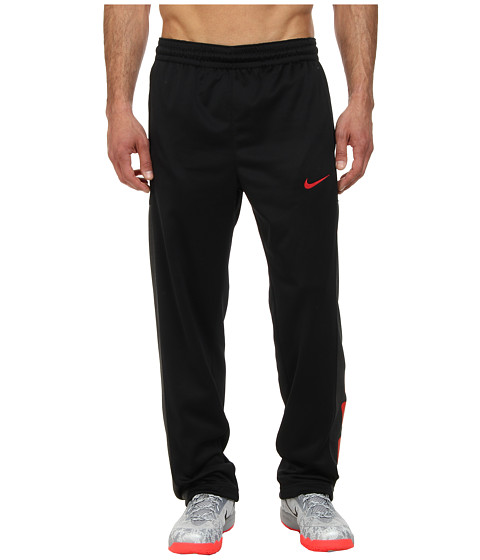 Nike - Elite Stripe Performance Fleece Pant (Black/Black Heather/University Red/University Red) Men's Casual Pants