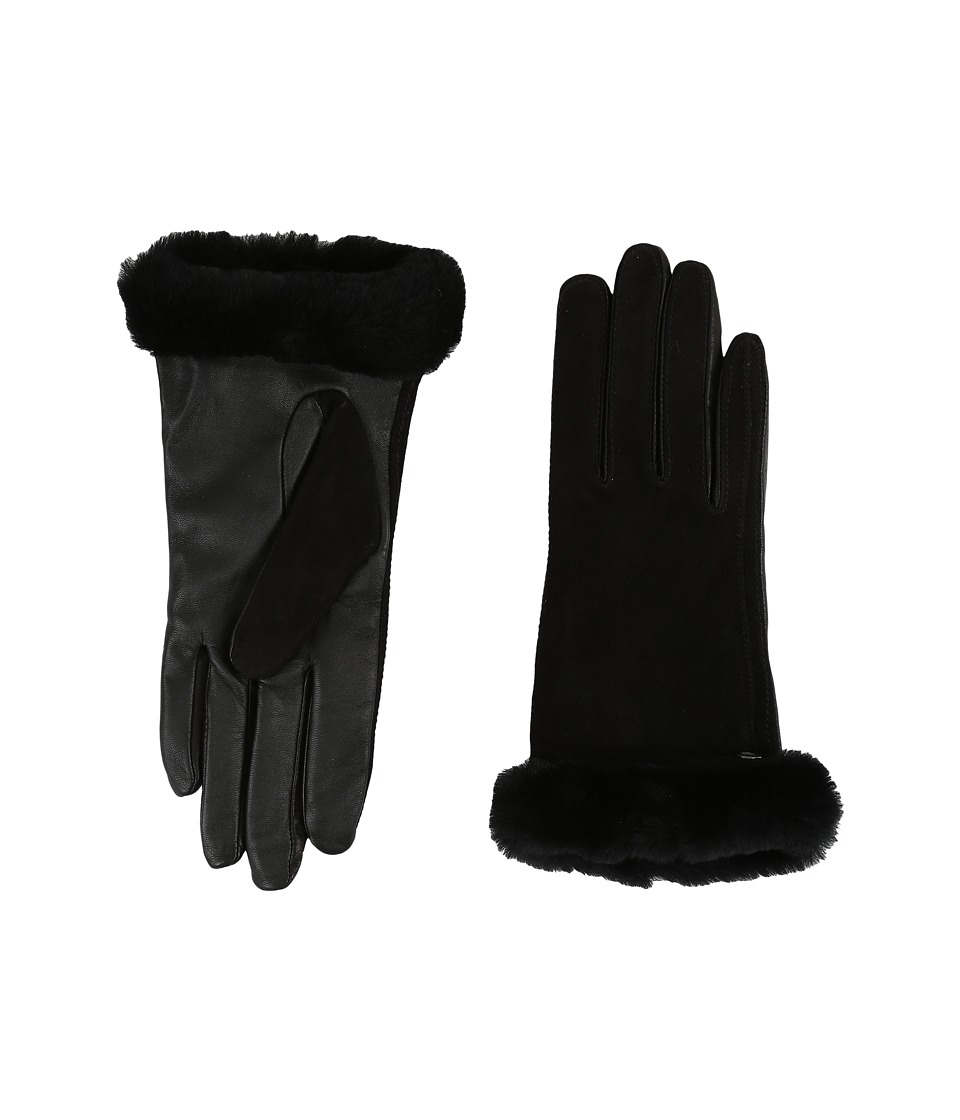 UGG - Classic Suede Smart Glove 14 (Black) Dress Gloves