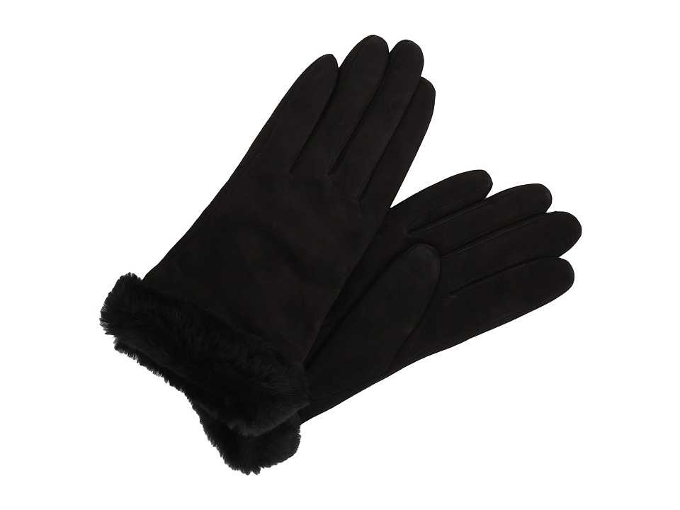 UGG - Classic Suede Shorty Glove (Black) Dress Gloves