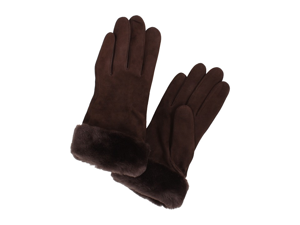 UGG - Classic Suede Shorty Glove (Brown) Dress Gloves