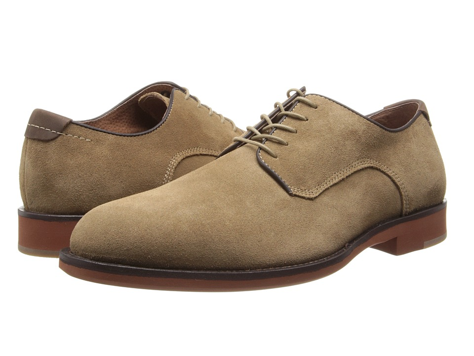 Johnston & Murphy - Ellington Plain Toe (Camel Suede) Men's Lace up casual Shoes