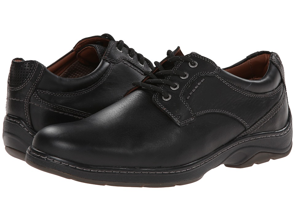 Johnston & Murphy - Fairfield Plain Toe (Black Waterproof Full Grain) Men's Shoes