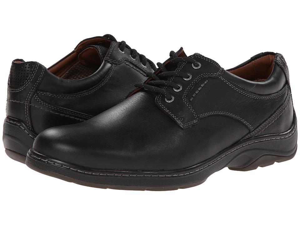 Johnston & Murphy - Fairfield Plain Toe (Black Waterproof Full Grain) Men's Shoes
