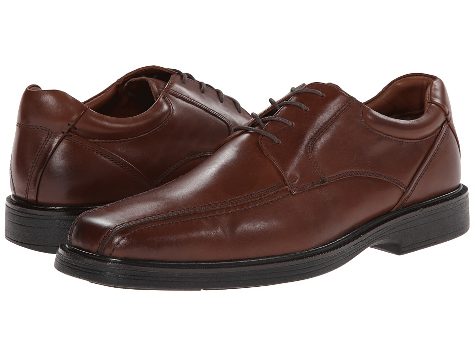 Johnston & Murphy Pattison Runoff Lace-Up (Mahogany Waterproof Full Grain) Men