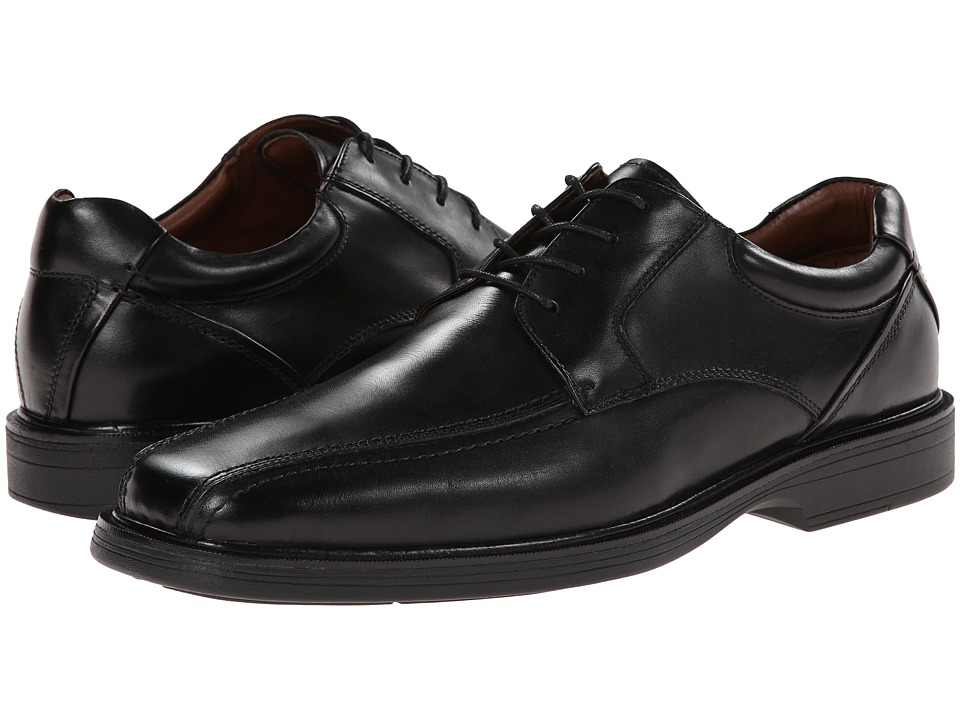 Johnston & Murphy - Pattison Runoff Lace-Up (Black Waterproof Full Grain) Men's Shoes