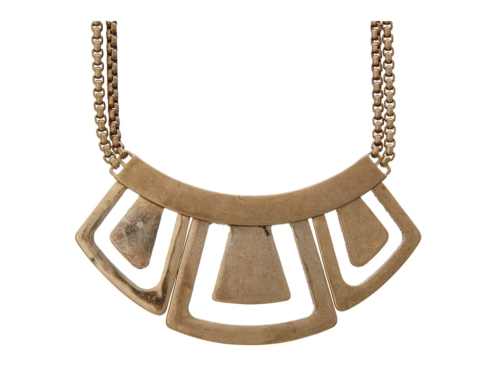 The Sak - Hinged Metal Geo Necklace (Gold) Necklace