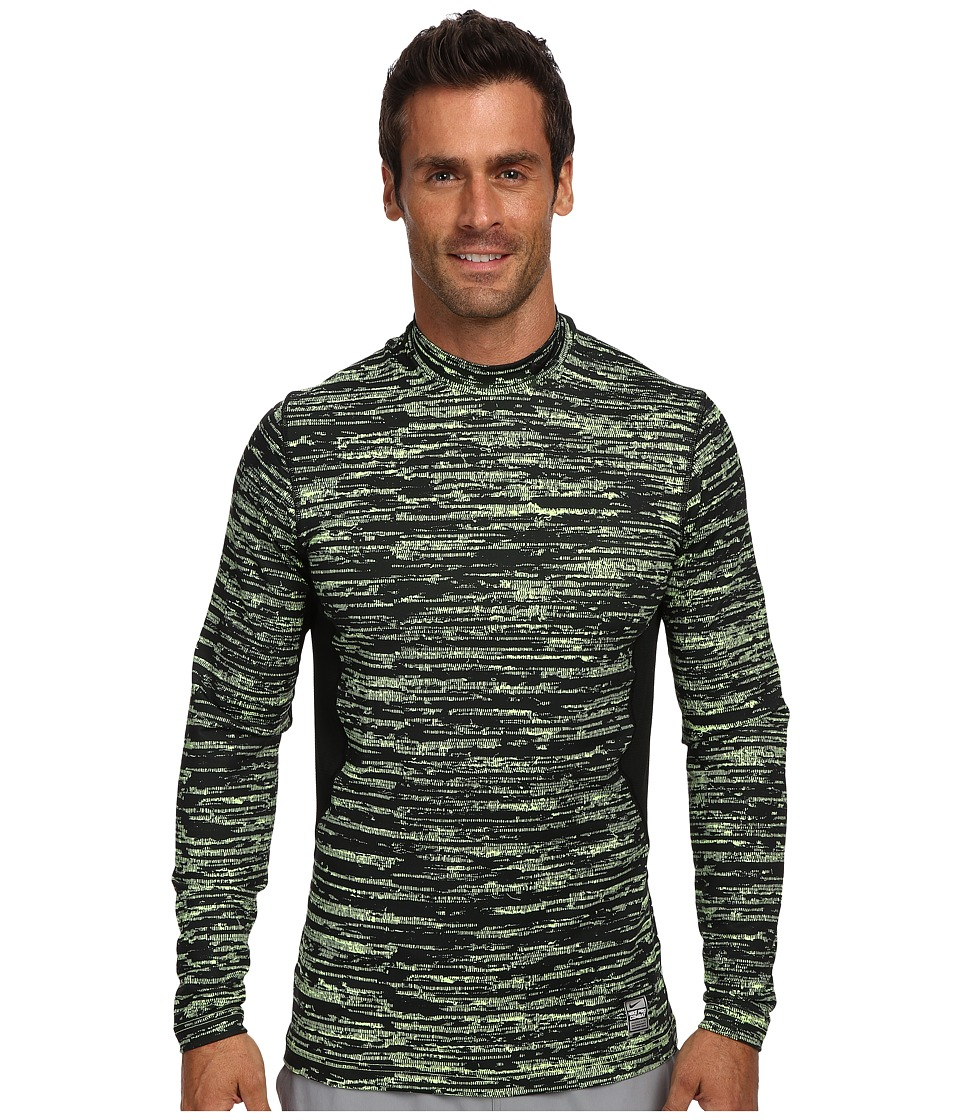 Nike - Pro Combat Hyperwarm Dri-Fit Max Fitted Hypercamo Mock (Volt/Black/Black) Men