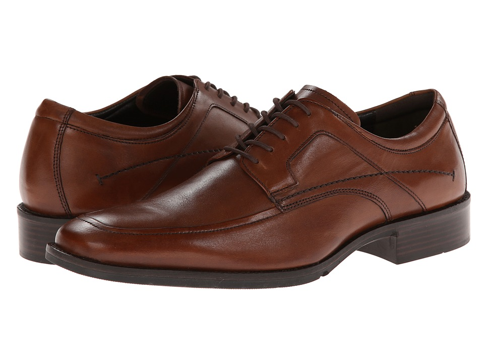 Johnston & Murphy - Larsey Moc Lace-Up (Tan Italian Calfskin) Men's Shoes