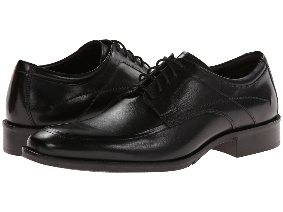 Johnston & Murphy - Larsey Moc Lace-Up (Black Italian Calfskin) Men's Shoes