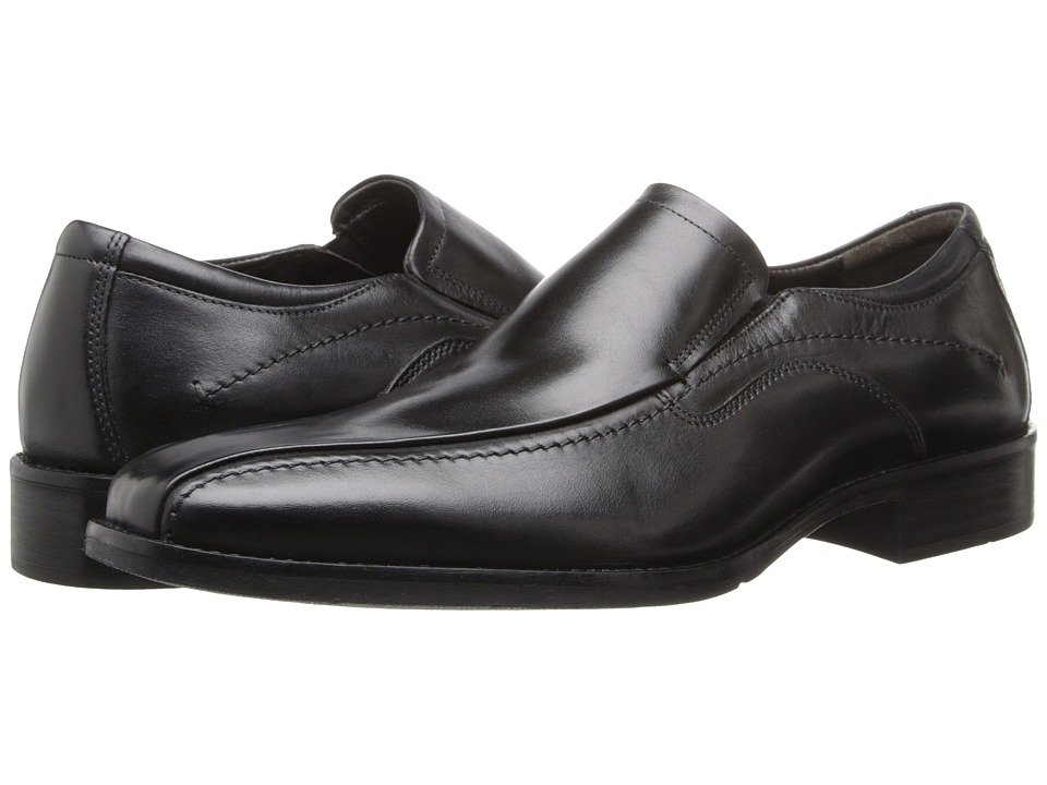 Johnston & Murphy - Larsey Runoff Moc Venetian (Black Italian Calfskin) Men's Shoes