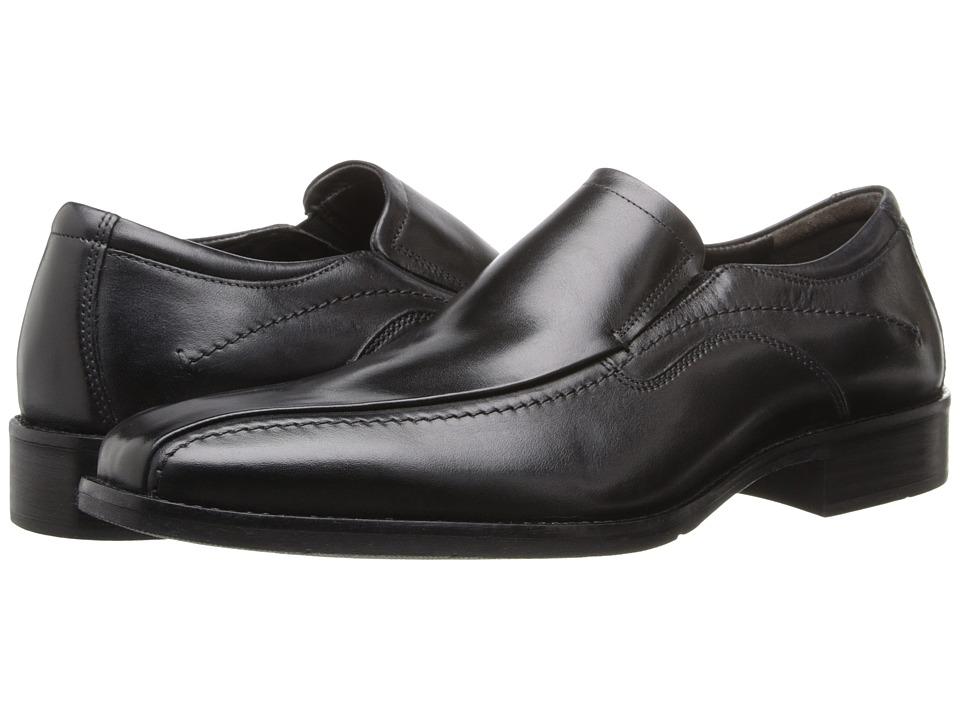 Johnston & Murphy - Larsey Runoff Moc Venetian (Black Italian Calfskin) Men's Shoes