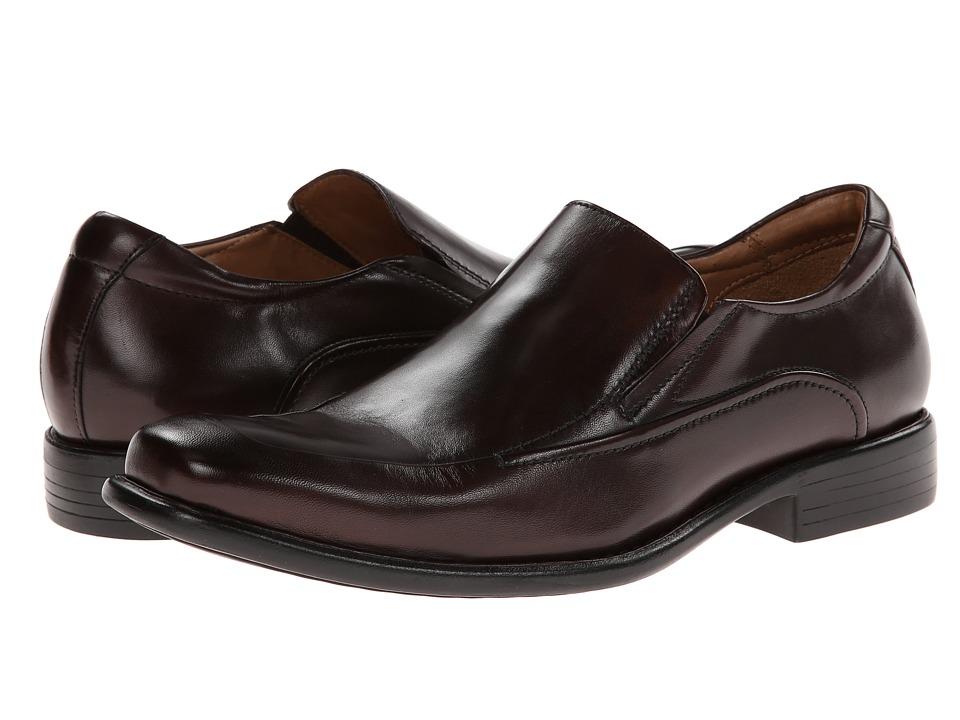 Johnston & Murphy - Tilden Slip-On (Mahogany Calfskin) Men's Slip-on Dress Shoes