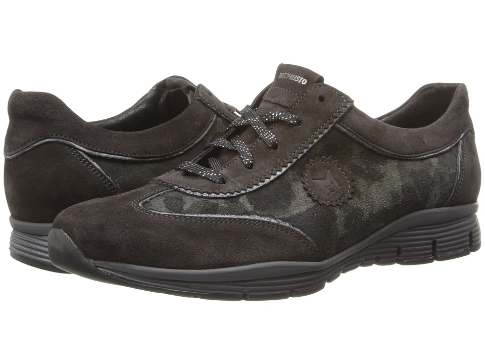 Mephisto - Yael (Dark Grey Velcalf Premium/Tank/Black Old Vintage) Women's Lace up casual Shoes