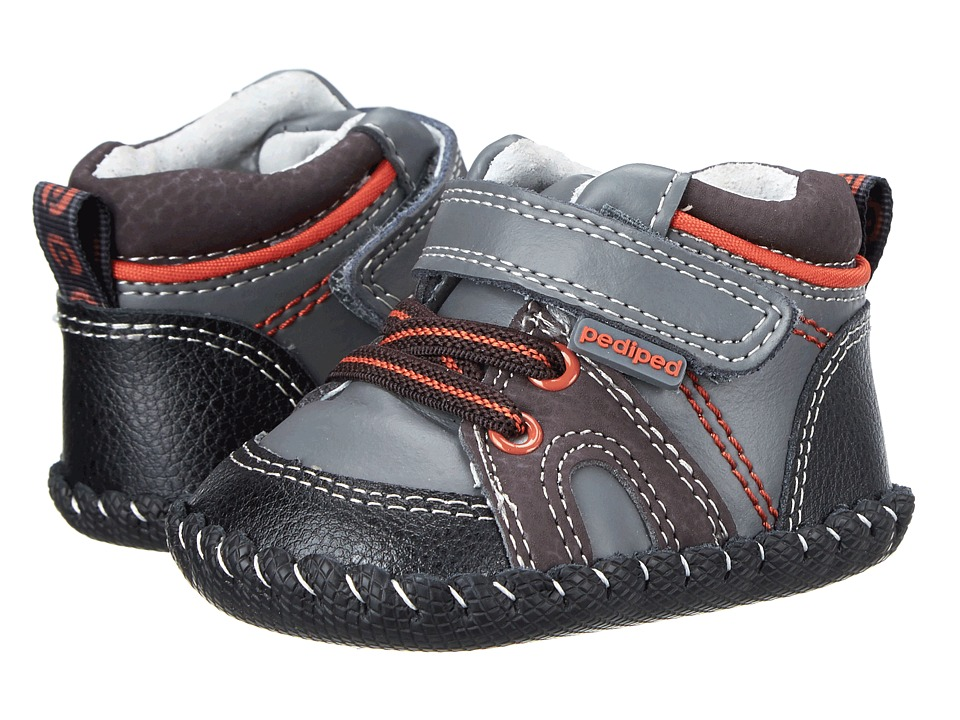 pediped - Justin Original (Infant) (Charcoal) Boy's Shoes