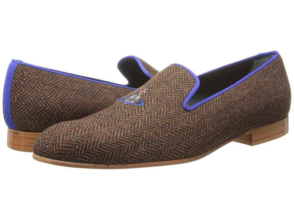 Vivienne Westwood - Slipper (Herringbone) Men's Slip on Shoes