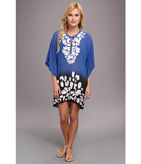 KAS New York - Natalya Kaftan With Embellishments (Royal/Ombre) Women's Dress