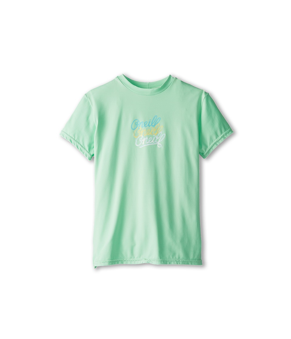 O'Neill Kids - Skins S/S Rash Tee (Little Kids/Big Kids) (Mint) Girl's Swimwear