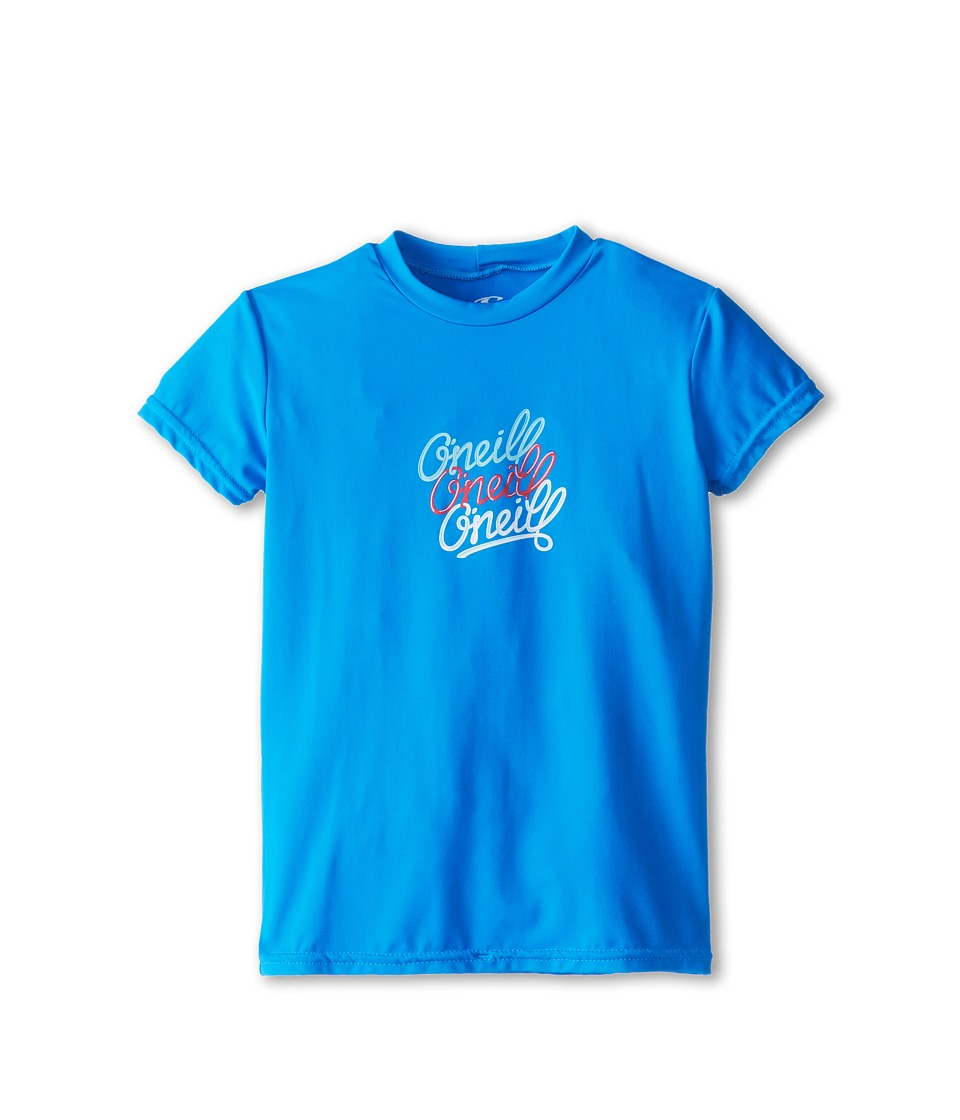 O'Neill Kids - Skins S/S Rash Tee (Little Kids/Big Kids) (Tahiti Blue) Girl's Swimwear