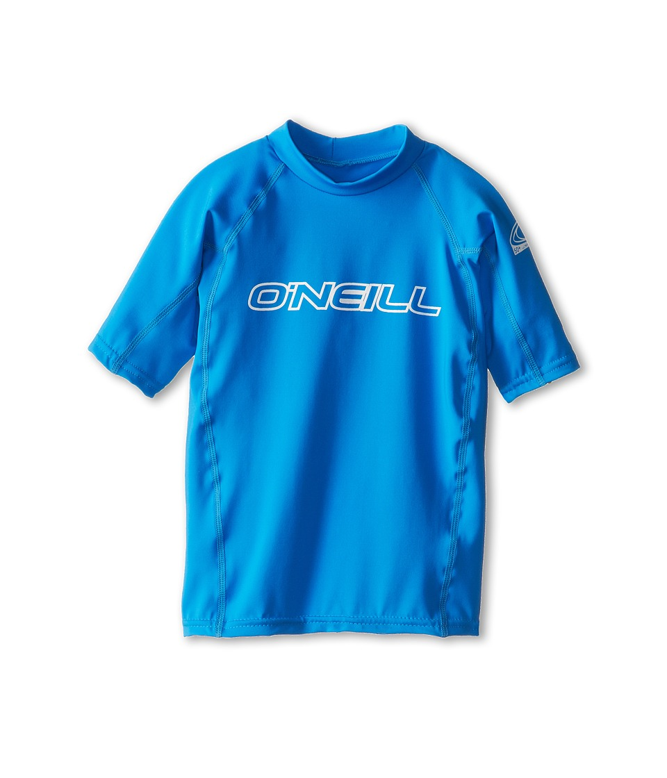 O'Neill Kids - Basic Skins S/S Crew (Little Kids/Big Kids) (Brite Blue) Kid's Swimwear