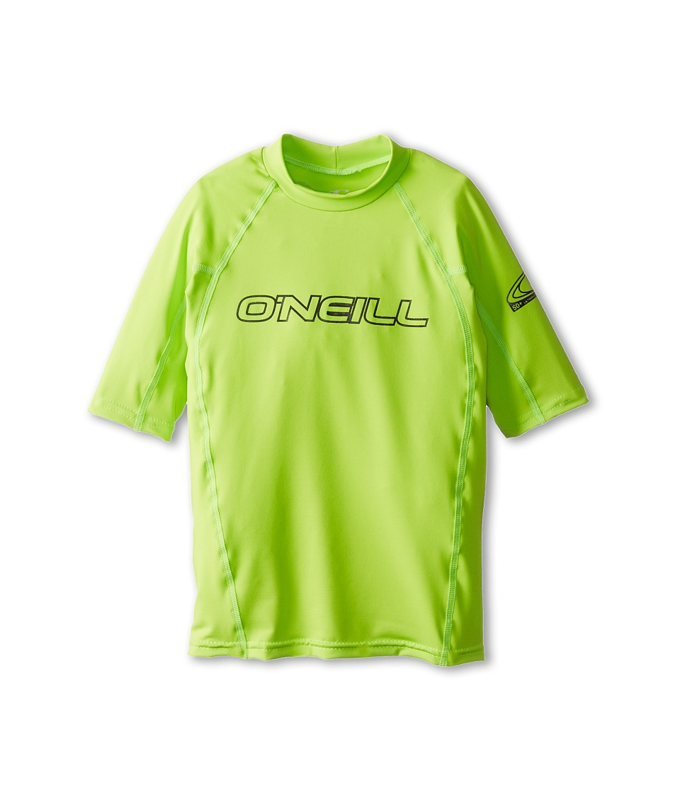 O'Neill Kids - Basic Skins S/S Crew (Little Kids/Big Kids) (Lime) Kid's Swimwear