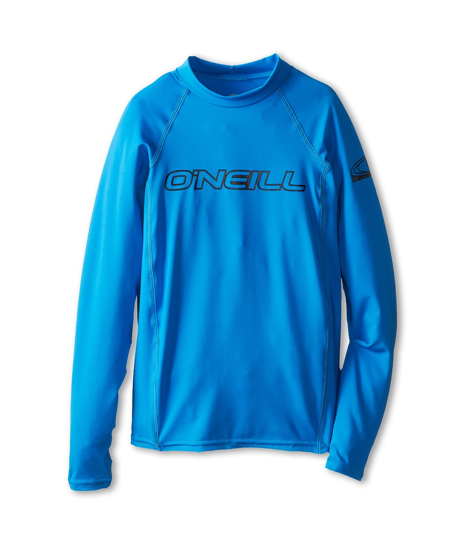 O'Neill Kids - Basic Skins L/S Crew (Little Kids/Big Kids) (Brite Blue) Kid's T Shirt