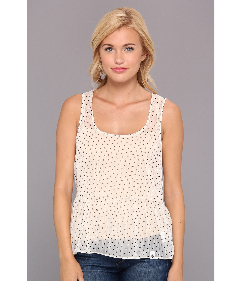 Volcom - Square Dot Tank (Cream) Women's Sleeveless
