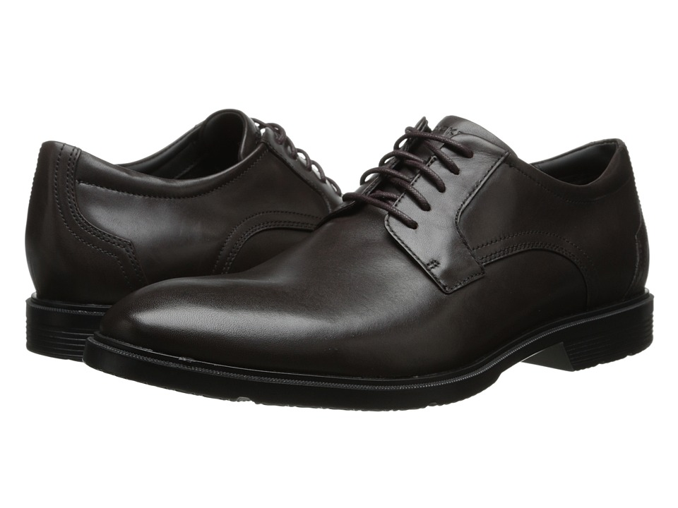 Rockport - City Smart Plain Toe Oxford (Dark Bitter Chocolate) Men's Lace up casual Shoes