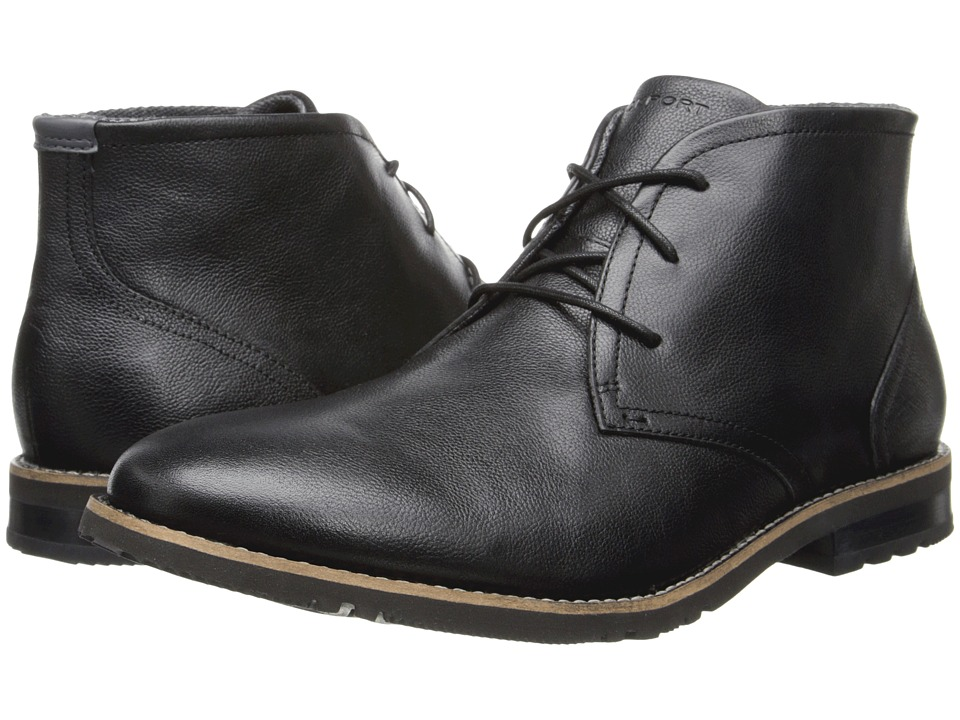 Rockport - Ledge Hill 2 Chukka Boot (Black Leather) Men's Boots